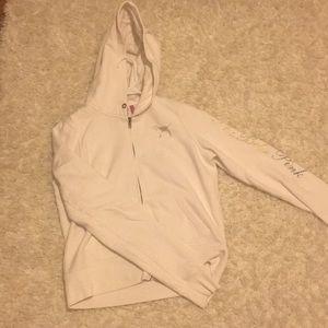 PINK Victoria's Secret White University Sweatshirt